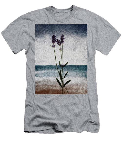 Lavender Ocean Breath Men's T-Shirt (Athletic Fit)