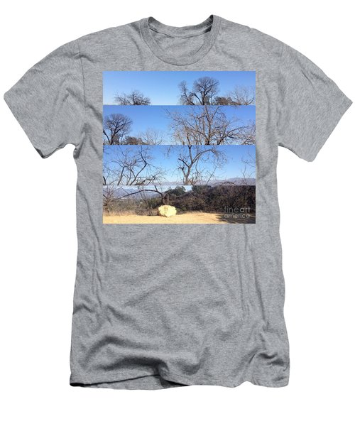 Men's T-Shirt (Slim Fit) featuring the photograph Layered Perspectives by Nora Boghossian