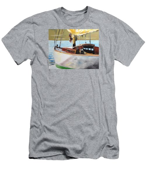 Men's T-Shirt (Slim Fit) featuring the painting Lazy Sloop by Stan Tenney