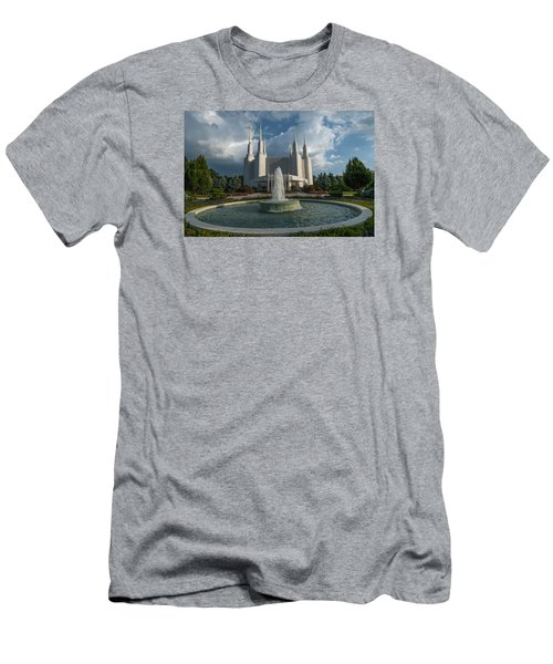 Lds Water Fountain  Men's T-Shirt (Athletic Fit)