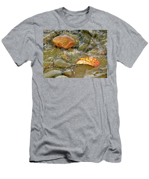 Leaf, Rock Leaf Men's T-Shirt (Athletic Fit)