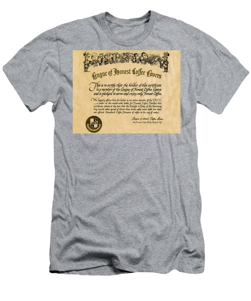 League Of Honest Coffee Lovers Certificate Men's T-Shirt (Athletic Fit)