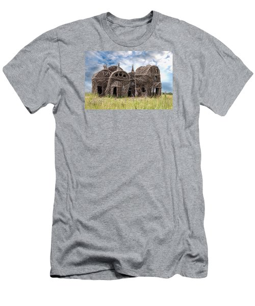 Lean On Me - Stick House Series 1/3 Men's T-Shirt (Slim Fit) by Patti Deters