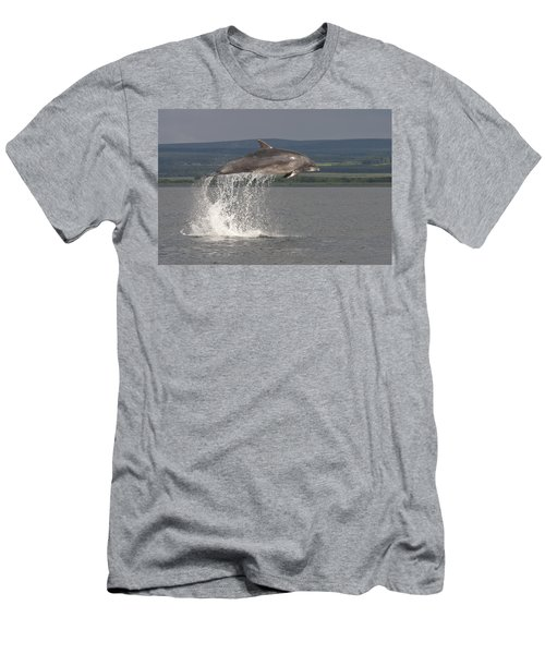Leaping Bottlenose Dolphin  - Scotland #39 Men's T-Shirt (Athletic Fit)