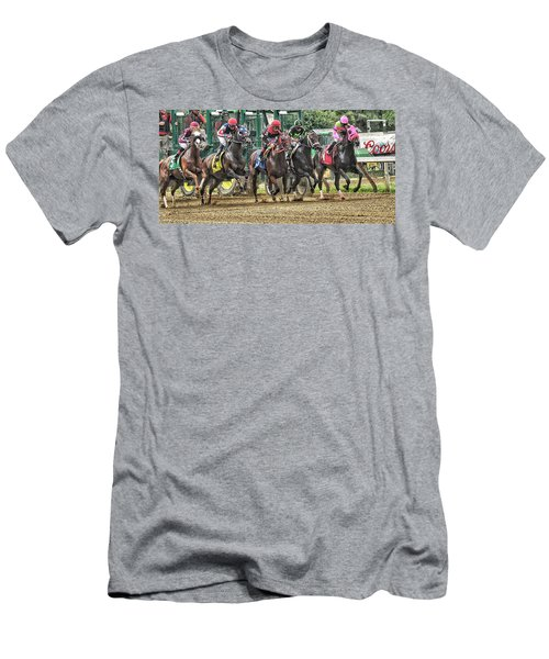 Leaping Forward Men's T-Shirt (Athletic Fit)