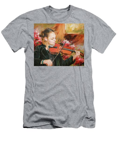 Learning The Violin Men's T-Shirt (Athletic Fit)