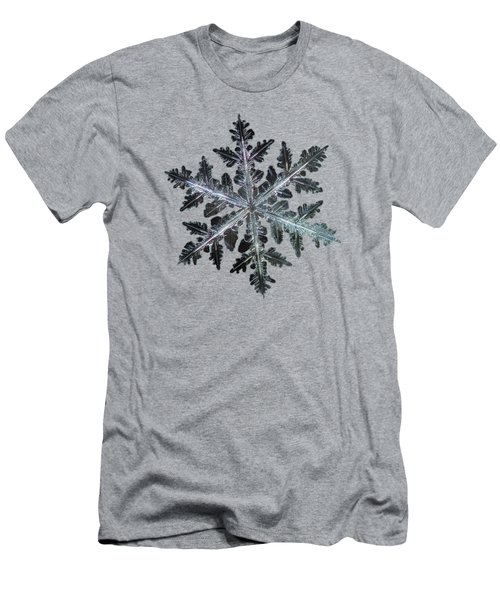 Men's T-Shirt (Slim Fit) featuring the photograph Leaves Of Ice by Alexey Kljatov