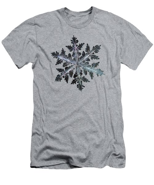 Men's T-Shirt (Athletic Fit) featuring the photograph Leaves Of Ice II by Alexey Kljatov