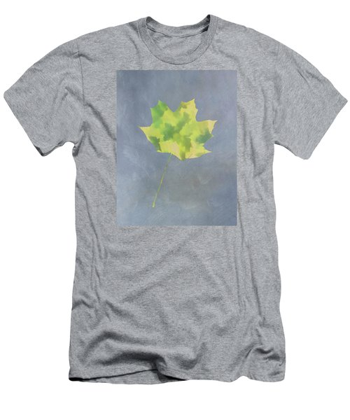 Men's T-Shirt (Slim Fit) featuring the photograph Leaves Through Maple Leaf On Texture 4 by Gary Slawsky