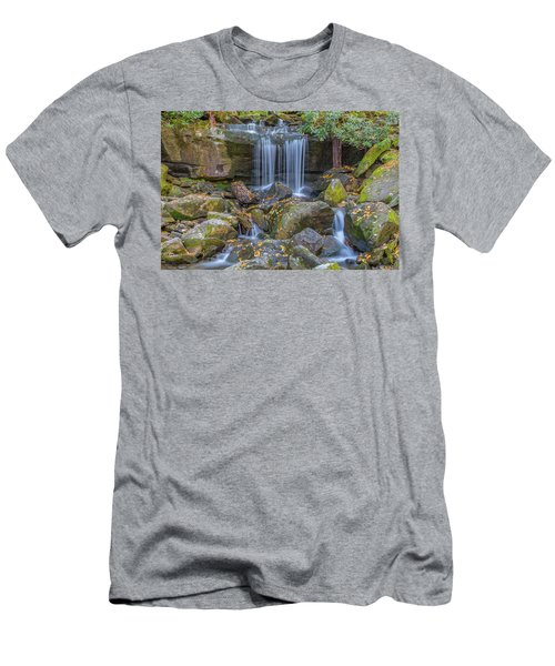 Leconte Creek Waterfall 2 Men's T-Shirt (Athletic Fit)