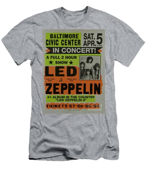 Led Zeppelin Live In Concert At The Baltimore Civic Center Poster Men's T-Shirt (Athletic Fit)