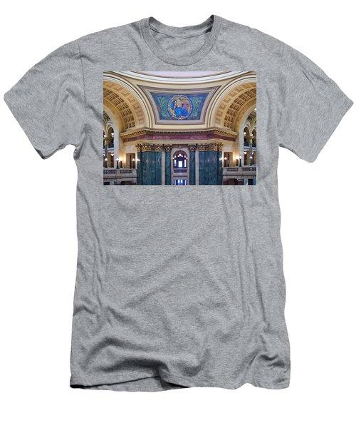 Legislation Mural - Capitol - Madison - Wisconsin Men's T-Shirt (Athletic Fit)
