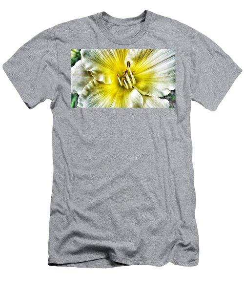 Lemon Cream Daylilly Men's T-Shirt (Athletic Fit)