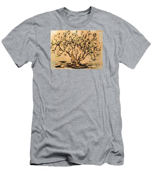 Men's T-Shirt (Athletic Fit) featuring the painting Lemon Tree by Maria Langgle