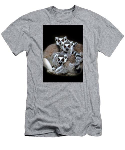 Men's T-Shirt (Slim Fit) featuring the photograph Lemurs by Marion Johnson