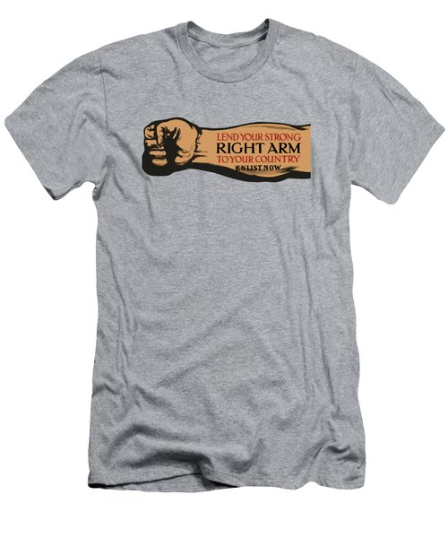 Lend Your Strong Right Arm To Your Country Men's T-Shirt (Athletic Fit)