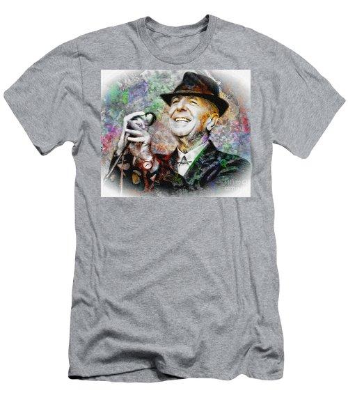 Leonard Cohen - Tribute Painting Men's T-Shirt (Athletic Fit)