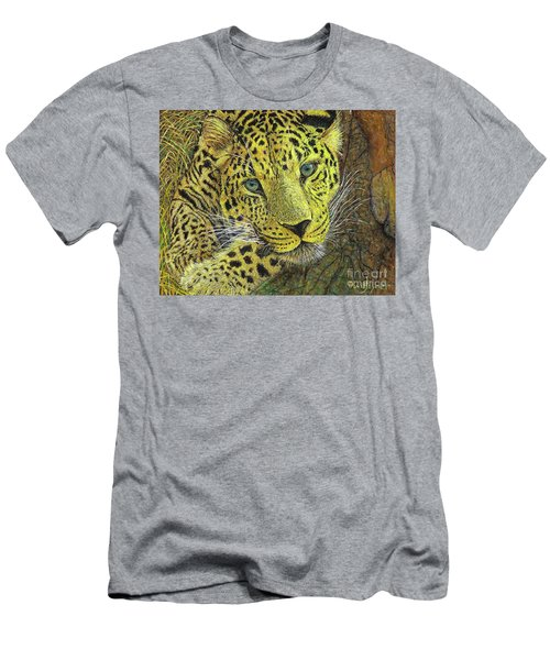 Leopard Gaze Men's T-Shirt (Athletic Fit)