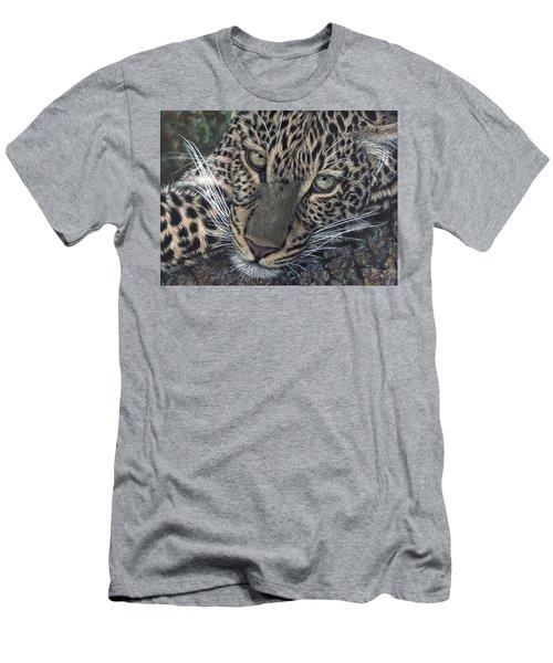Leopard Portrait Men's T-Shirt (Athletic Fit)
