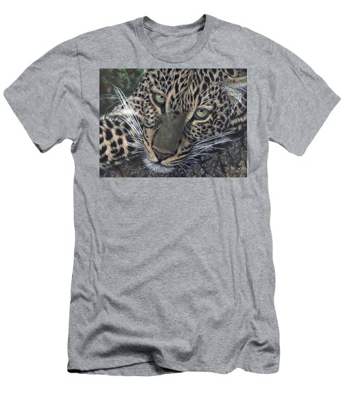 Leopard Portrait Men's T-Shirt (Athletic Fit)