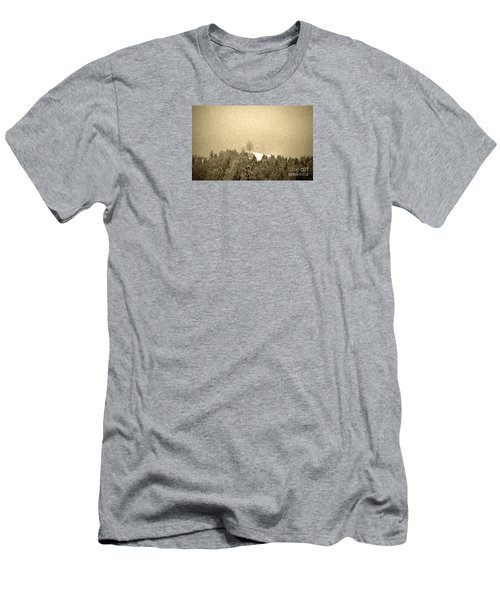 Men's T-Shirt (Slim Fit) featuring the photograph Let It Snow - Winter In Switzerland by Susanne Van Hulst