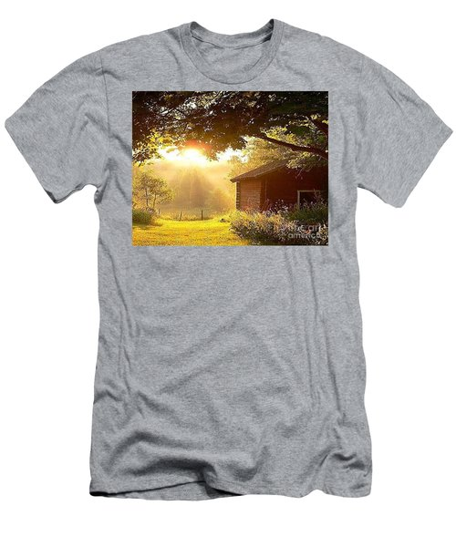 Let There Be Light Men's T-Shirt (Slim Fit) by Rod Jellison