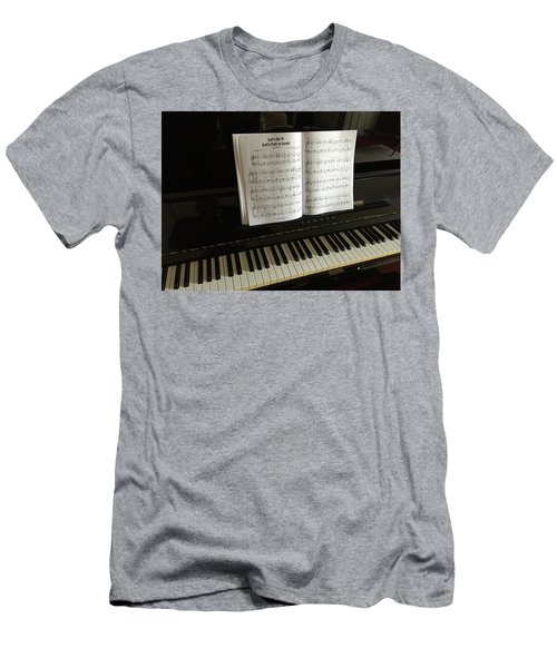 Men's T-Shirt (Athletic Fit) featuring the photograph Let's Fall In Love Or At Least Sing About It. by Frank DiMarco