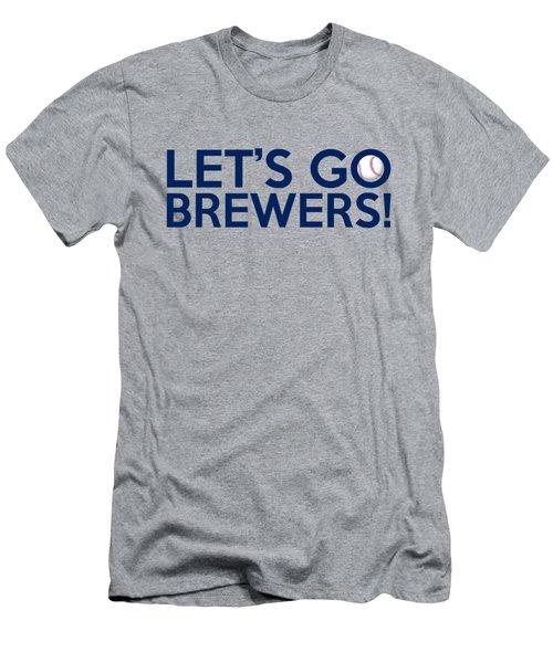 Let's Go Brewers Men's T-Shirt (Slim Fit) by Florian Rodarte