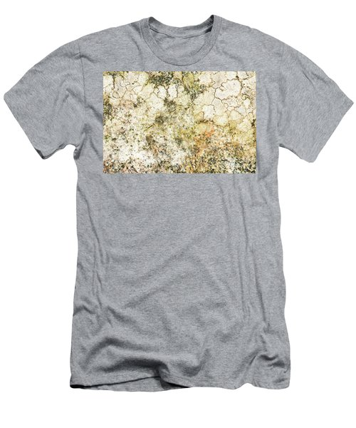 Men's T-Shirt (Slim Fit) featuring the photograph Lichen On A Stone, Background by Torbjorn Swenelius
