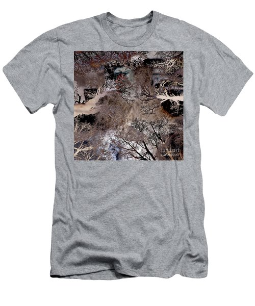Men's T-Shirt (Athletic Fit) featuring the digital art Life In A Bush Of Ghosts by Silva Wischeropp