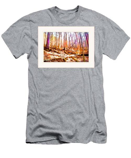 Light Between The Trees Men's T-Shirt (Slim Fit) by Felipe Adan Lerma