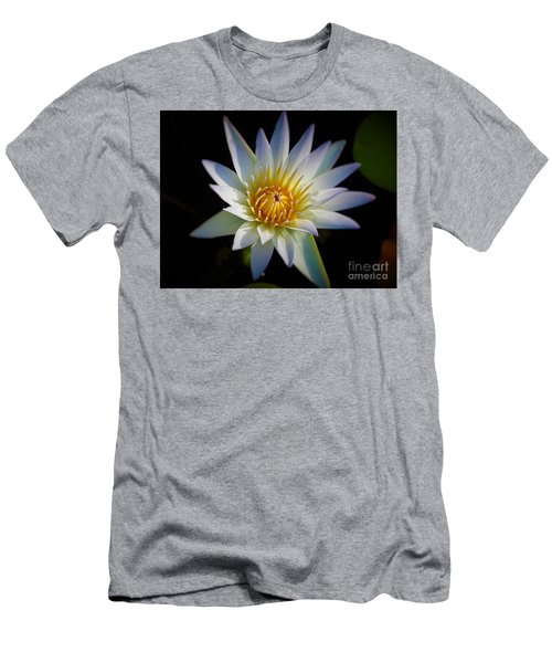 Men's T-Shirt (Slim Fit) featuring the photograph Light Blue Water Lily by Chad and Stacey Hall