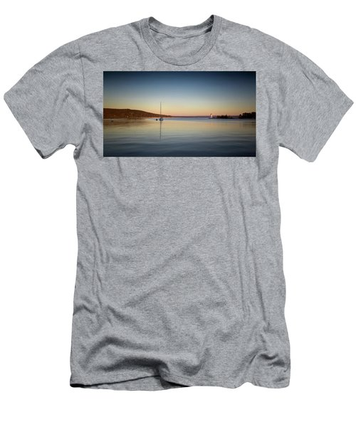 Light House At Sunset Men's T-Shirt (Athletic Fit)