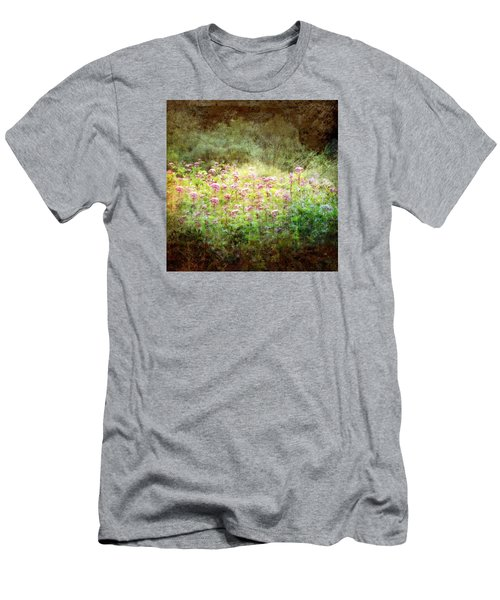 Men's T-Shirt (Slim Fit) featuring the photograph Light In The Forest by Robin Regan