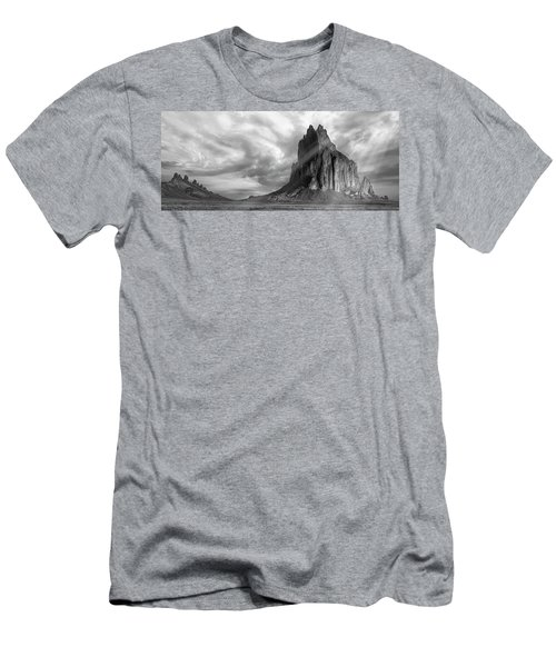 Men's T-Shirt (Slim Fit) featuring the photograph Light On Shiprock by Jon Glaser