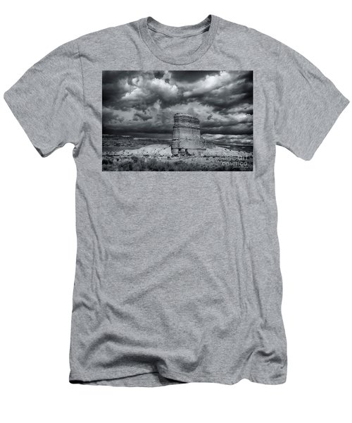 Men's T-Shirt (Slim Fit) featuring the photograph Light On The Rock by John A Rodriguez