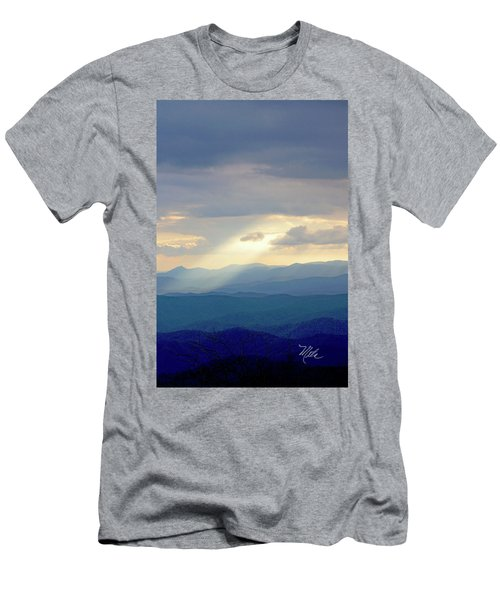 Light Ray Sunset Men's T-Shirt (Slim Fit) by Meta Gatschenberger