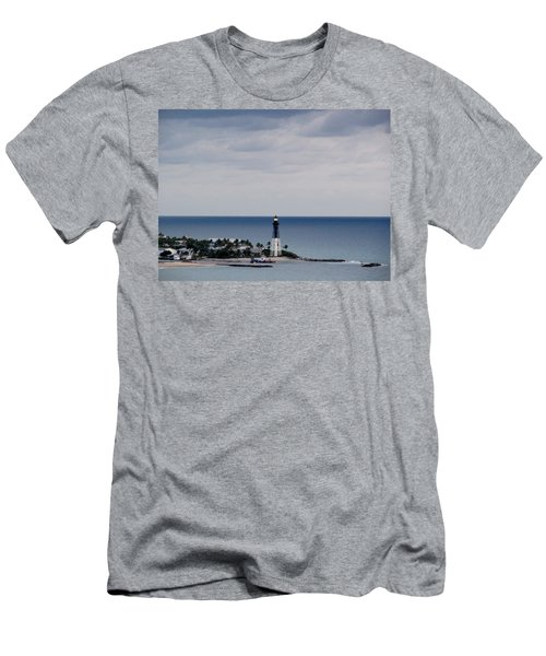 Lighthouse And Rain Clouds Men's T-Shirt (Athletic Fit)