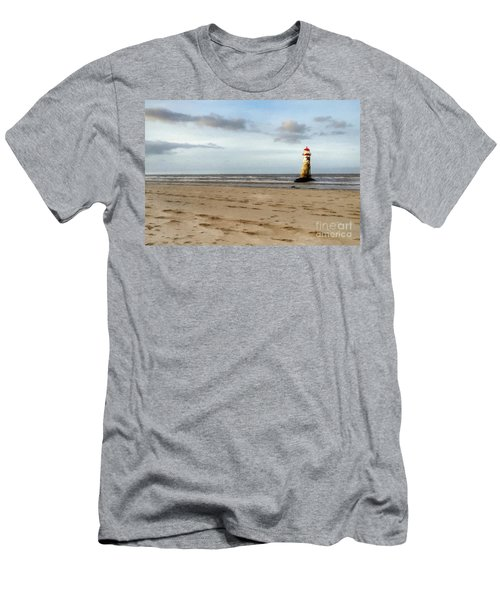 Lighthouse At Talacre Men's T-Shirt (Athletic Fit)