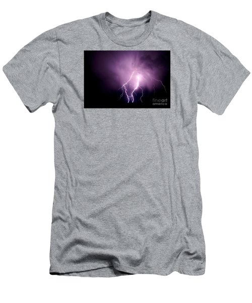 Lightning In The Desert Men's T-Shirt (Athletic Fit)