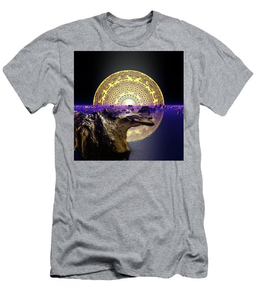 Men's T-Shirt (Athletic Fit) featuring the digital art Lightscape 24 by Robert Thalmeier