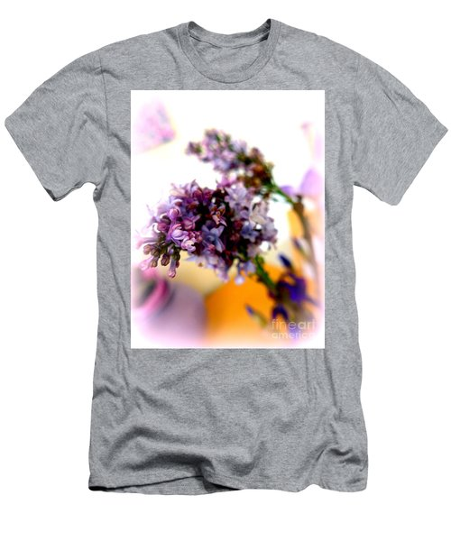 Lilac Beauty Men's T-Shirt (Slim Fit) by Marlene Rose Besso