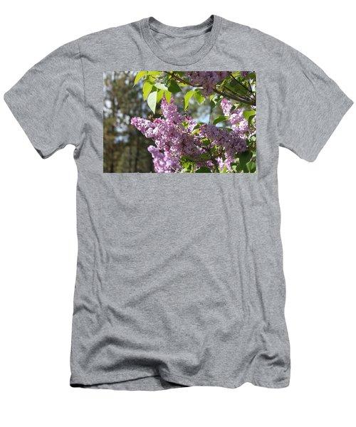 Men's T-Shirt (Slim Fit) featuring the photograph Lilacs 5545 by Antonio Romero