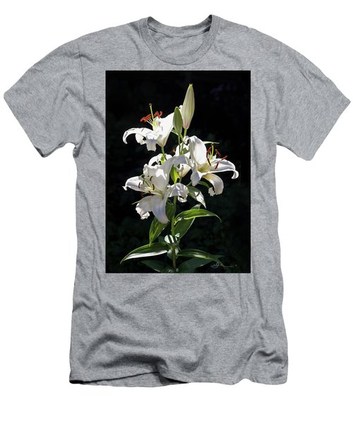 Lilies In The Sun Men's T-Shirt (Athletic Fit)