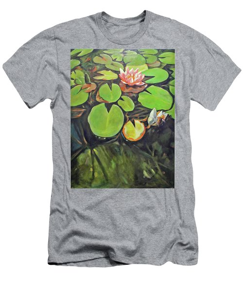 Lily In The Water Men's T-Shirt (Athletic Fit)