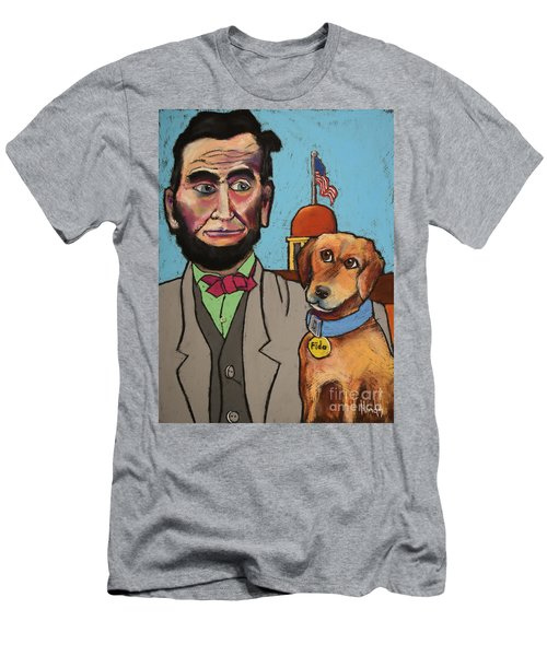 Lincoln And Fido Men's T-Shirt (Athletic Fit)