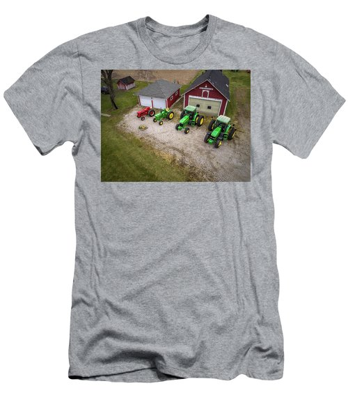 Lining Up The Tractors Men's T-Shirt (Athletic Fit)
