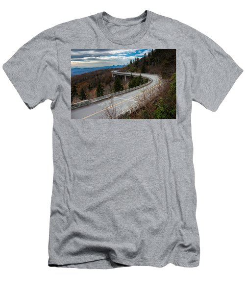 Linn Cove Viaduct Late Fall Men's T-Shirt (Athletic Fit)