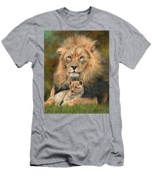 Lion And Cub Men's T-Shirt (Athletic Fit)