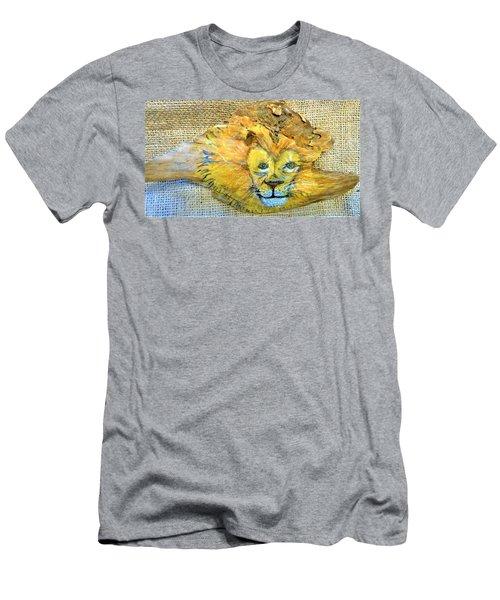 Lion Men's T-Shirt (Slim Fit) by Ann Michelle Swadener